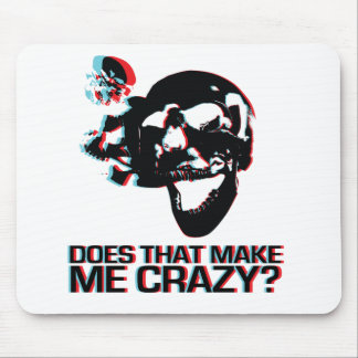 Crazy Skull Mouse Pad