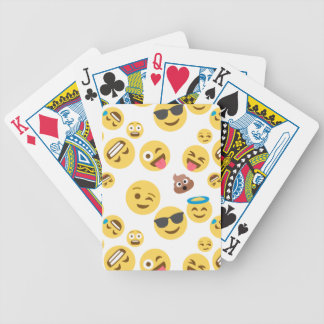 Crazy Smiley Emojis Bicycle Playing Cards