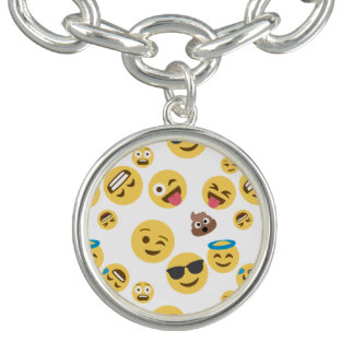 Crazy Smiley Emojis Charm Bracelets