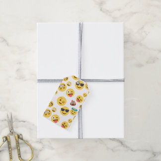 Crazy Smiley Emojis Gift Tags