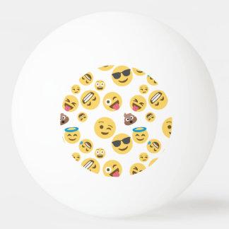Crazy Smiley Emojis Ping Pong Ball