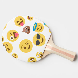 Crazy Smiley Emojis Ping Pong Paddle