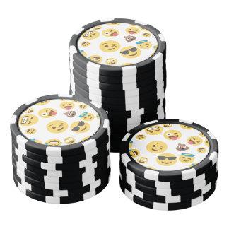 Crazy Smiley Emojis Poker Chip Set