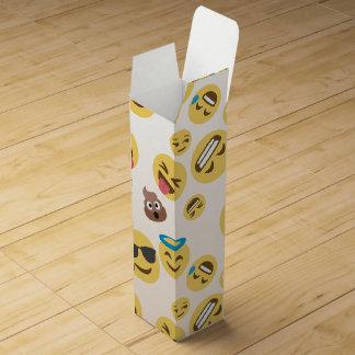 Crazy Smiley Emojis Wine Box
