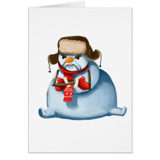 Crazy Snowman Christmas Card