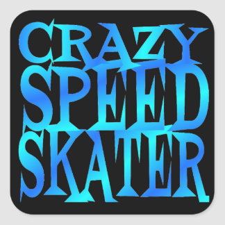 Crazy Speed Skater Square Sticker
