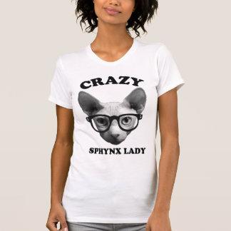 Crazy Sphynx Lady T-Shirt