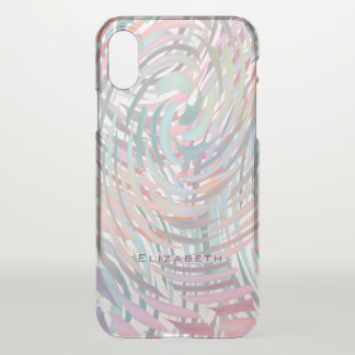 crazy spiraling pastels personalized iPhone x case