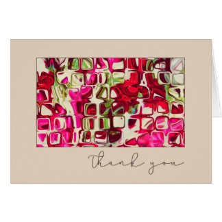 Crazy Squares Abstract Art Blank Thank You Card