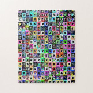 Crazy Squares iPad 3 Skin Jigsaw Puzzle