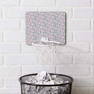 CRAZY SQUARES PATTERNED MINI BASKETBALL BACKBOARD