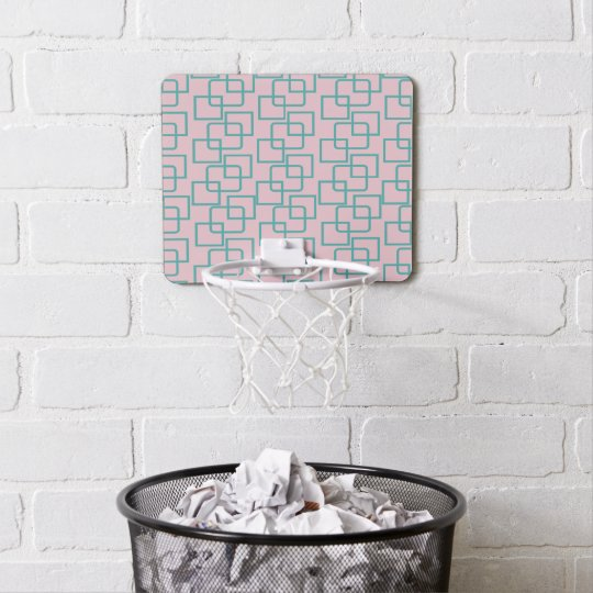 CRAZY SQUARES PATTERNED MINI BASKETBALL HOOP