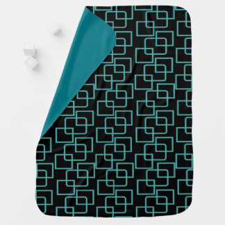 CRAZY SQUARES PATTERNED SWADDLE BLANKETS