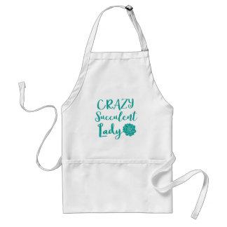 crazy succulent lady standard apron