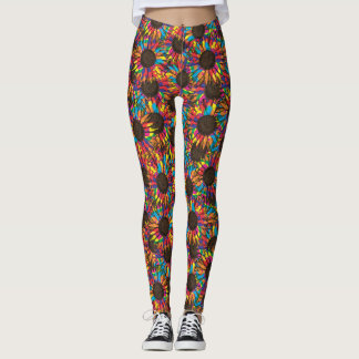 crazy sunflower leggings