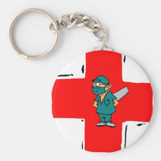 crazy surgeon basic round button keychain
