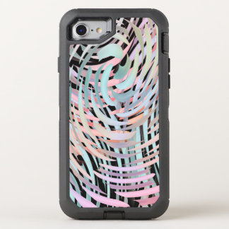 crazy swirling pastels OtterBox defender iPhone 8/7 case