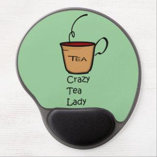 Crazy Tea Lady Gel Mouse Pad
