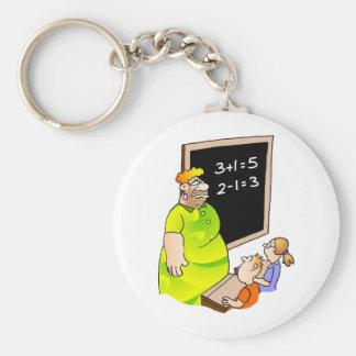 Crazy Teacher Basic Round Button Keychain