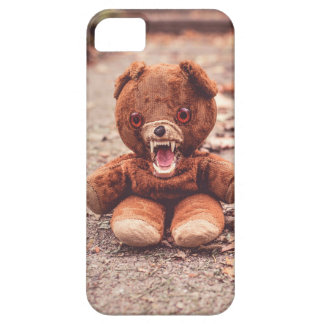 Crazy teddy bear phone case