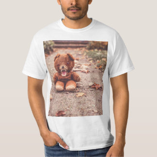 Crazy teddy bear t-shirt