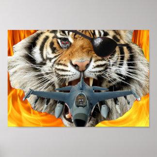 Crazy Tiger Poster