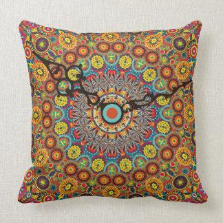 Crazy Time Warp Colorful Clock Pillow