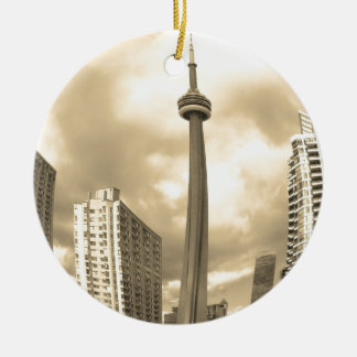 Crazy Toronto Skyline Ceramic Ornament
