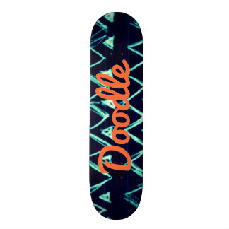 Crazy Tribal Doodle ZigZag Triangle Pattern Skate Board Deck