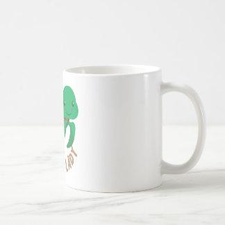 crazy turtle lady circle coffee mug