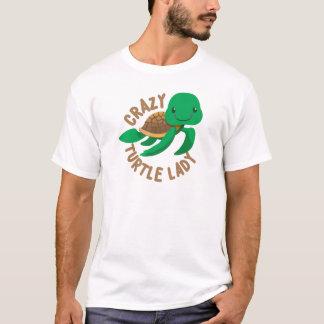 crazy turtle lady circle T-Shirt