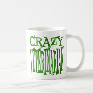 Crazy Veterinarian in Green Coffee Mug