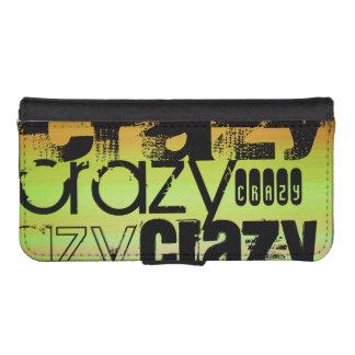 Crazy; Vibrant Green, Orange, & Yellow Phone Wallet