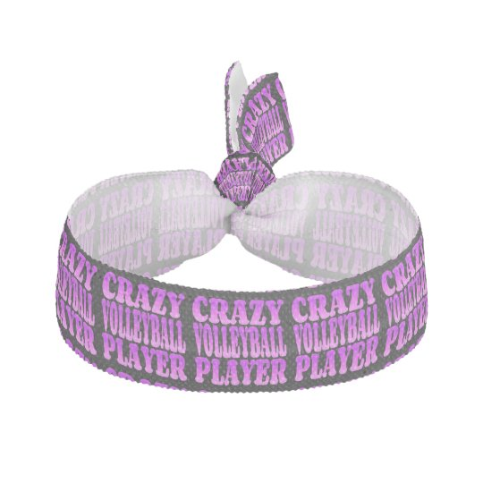 Crazy Volleyball Player in Purple Ribbon Hair Ties