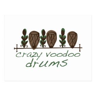 Crazy Voodoo Drums Postcard