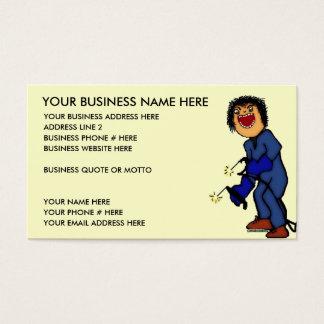 Crazy Welder Cartoon Business Card
