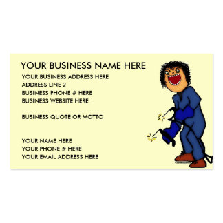 Crazy Welder Cartoon Business Cards