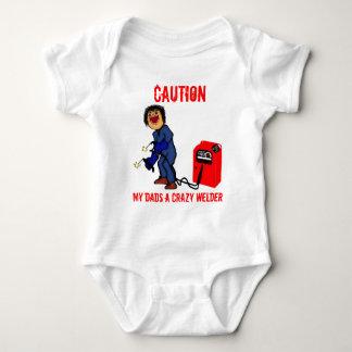 Crazy Welder Dad Cartoon Baby Bodysuit