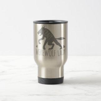 Crazy Werewolf Lady Travel Mug