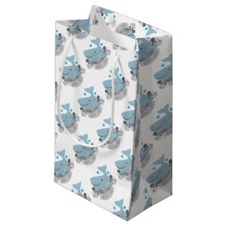 crazy whale lady small gift bag