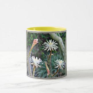 Crazy White Cactus Blooms on Coffee Mug