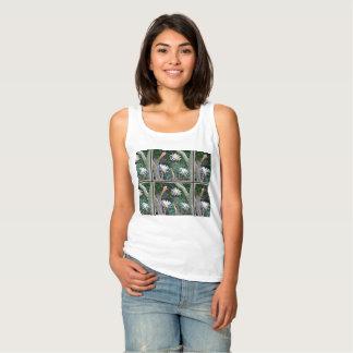 Crazy White Cactus Blooms on Women's Tank Top