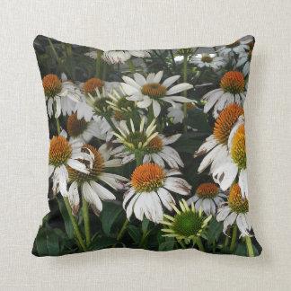 Crazy White Echinacea Eastern Purple Throw Pillow