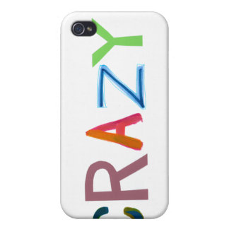 Crazy wild bold colorful goofy fun silly word art case for the iPhone 4