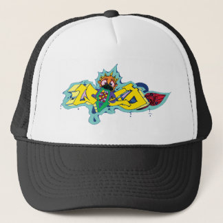 Crazy Wild Graffiti Character Trucker Hat