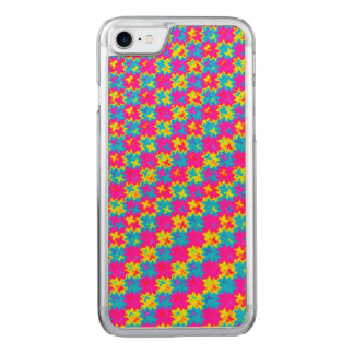 Crazy Yellow and Pink Pattern Carved iPhone 7 Case