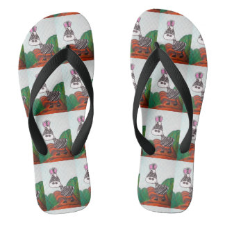 crazy zebra flip flops for men and women
