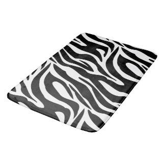 Crazy Zebra Stripes Bath Mat