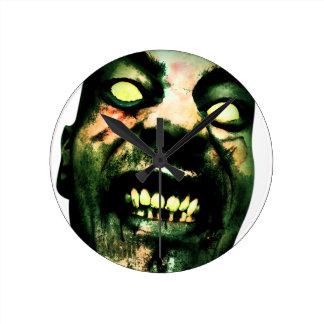Crazy Zombie Man Face Wallclocks