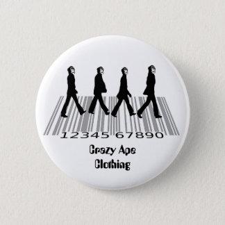 crazyapecommercialroad, 2 inch round button